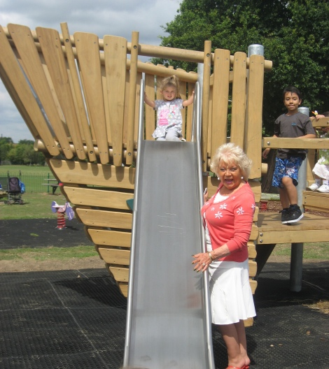Playing in Morden Hall Rec