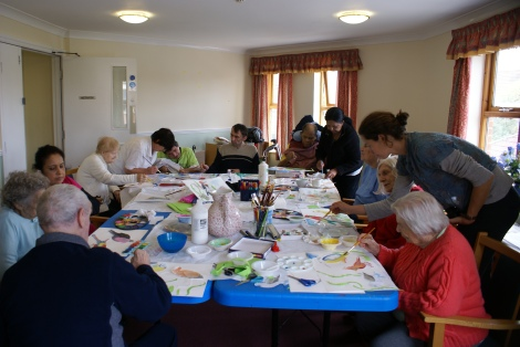 Residents took part in art workshops with professional artist, Rose Pomeroy