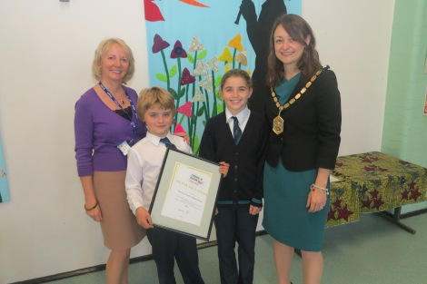 The Mayor of Merton, Councillor Krystal Miller visited The Priory C of E Primary School in Wimbledon to congratulate the pupils on winning a London in Bloom award