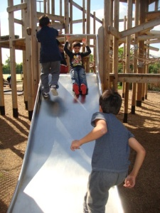 Children at the adventure playground