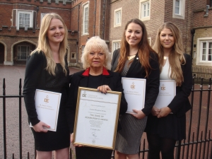 (left to right) Ellie Stopher, Lucy McDermott and Kate McDermott – all are ex-pupils from Ricards Lodge High School in Wimbledon