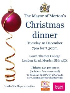 Mayor of Merton's Christmas dinner
