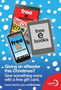 Christmas giftcard from Merton Libraries
