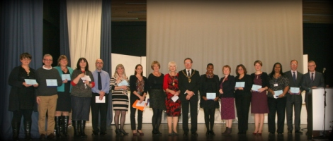 Mitcham Town Community Trust members and the Deputy Mayor, Cllr John Sargeant
