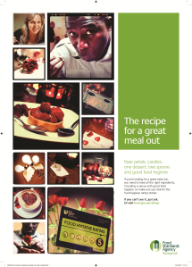 Food Standards Agency poster