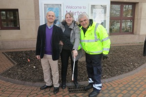 Dan Goode, Councillor Judy Saunders and Councillor Stephen Alambritis