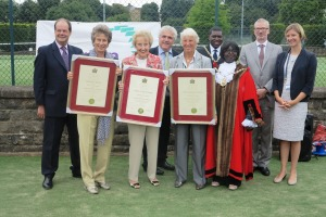 Freedom of the Borough for Virginia Wade, Angela Mortimer and Ann Haydon Jones