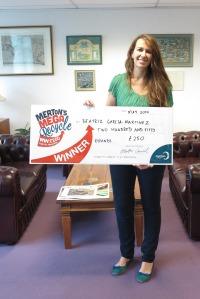 Beatriz Garcia-Martinez, first winner of Merton Mega Recycle