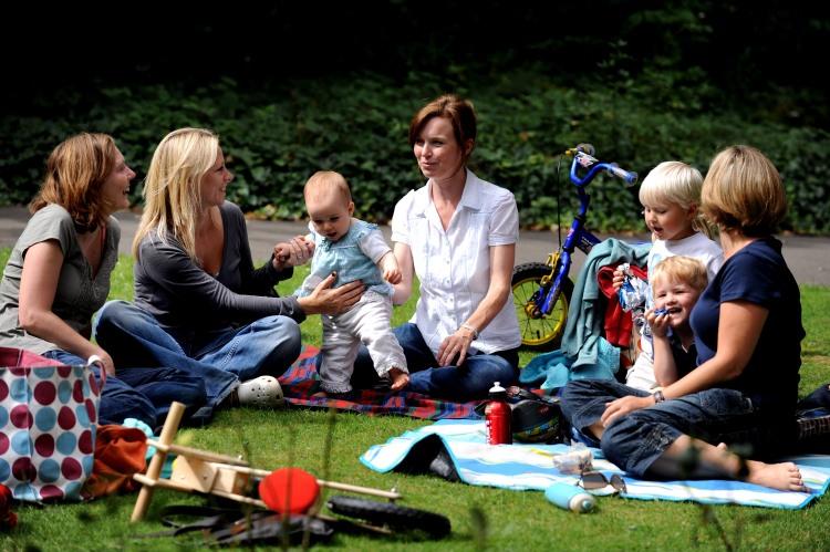 Residents enjoying Merton's parks