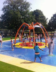 New interactive water play area at Tamworth Recreation Ground, Figges Marsh