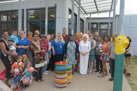 Parent, staff and cabinet member for children's services, Cllr Maxi Martin at the Acacia Children's Centre