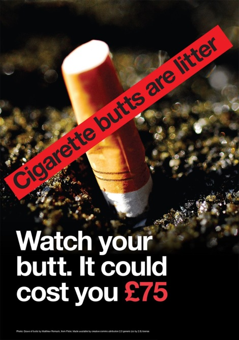 68.3_Cigarette_butt_litter_posters