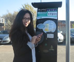 using the new free RinGo app at York Close car park, Morden