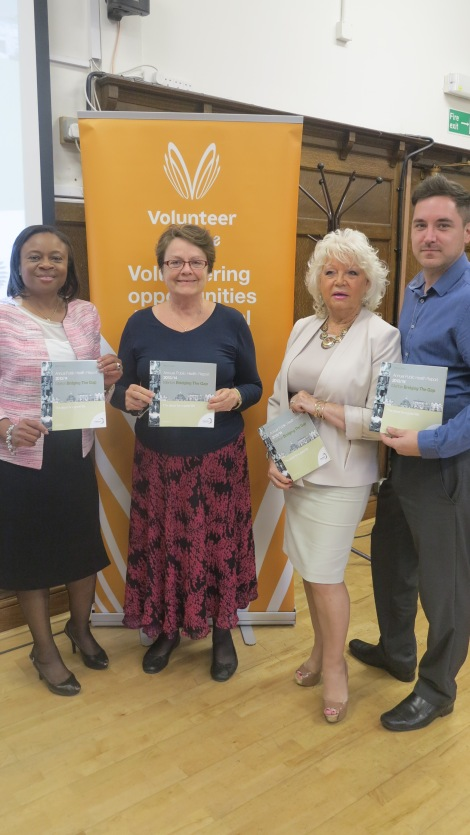 L-R: Cabinet member for adult social care and health, Councillor Caroline Cooper-Marbiah, Merton's director of public health, Dr Kay Eilbert, cabinet member for children's services, Councillor Maxi Martin, Merton Healthwatch manager, Dave Curtis