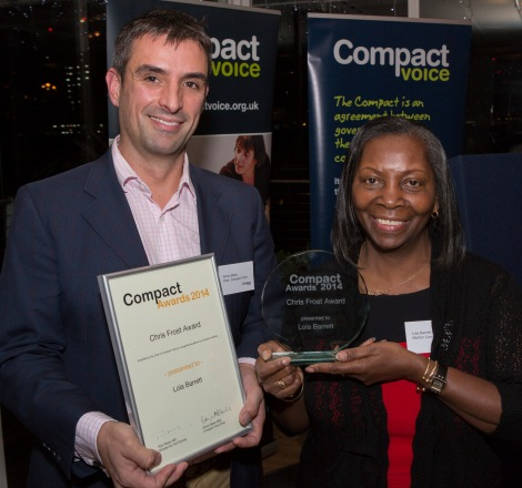 Chair of Compact Voice, Simon Blake OBE and chief executive of Grenfell Housing and Training, Lola Barret
