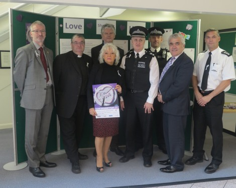 Councillor Maxi Martin and Councillor Stephen Alambritis with representatives from the council and police