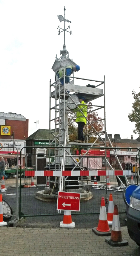 Mitcham clock tower being carefully dismantled for restoration