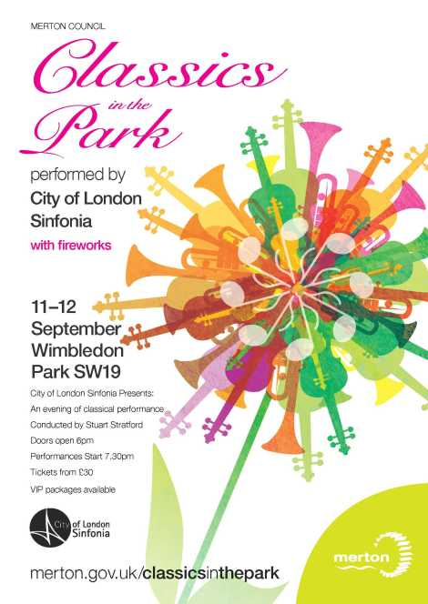 Classics in the Park, performed by City of London Sinfonia on 11 - 12 September.