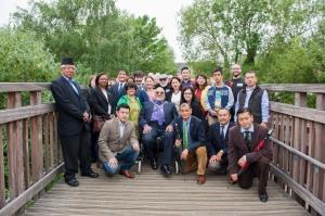 Mayor of Merton, Councillor David Chung alongside the Gurung family and Councillors.