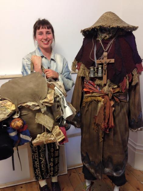 Winning costumer by Jennifer Gregory from Wimbledon College of Art was inspired by Sir Godfrey Kneller's painting 'The Chinese Convert' to create a pilgrim costume.