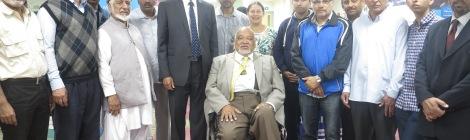 Mayor of Merton, Councillor David Chungs alongside the Mayoress and the Majlis Ansarullah community.