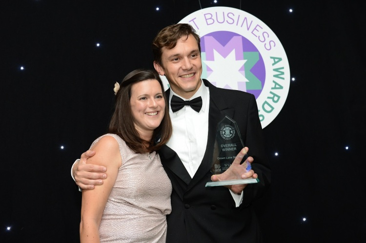 Winners of this year's Merton Best Business Awards, Ruth and John Merriman