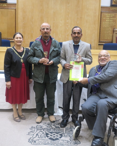 Winners of the best community garden category, the Baitul Futuh Mosque