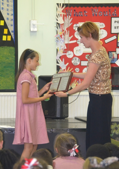 Abbotsbury School award Katy Neep