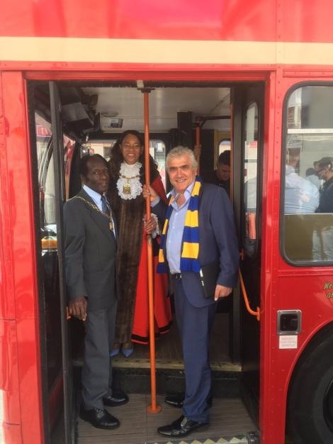 AFC Wimbledon victory parade Brenda, Stephen, Lloyd