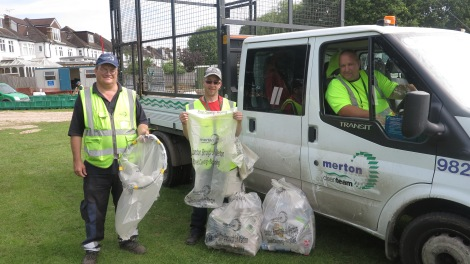 Waste services team Eric Kerbey, right,John Foster, middle, Mark Arnold, left 4