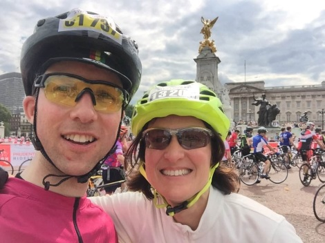 Ride London 2016 Gavin Compton and Bronwen Pickering