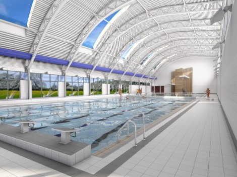 Artist impression of the interior of the new Morden Leisure Centre