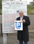 Leader of the Merton Council, Cllr Stephen Alambritis in York Close car park