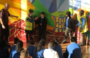 Acting out their play - the scene where the culprit is caught