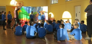 Drama workshop under the guidance of the Dangerous Theatre Groups' Paul Wylie