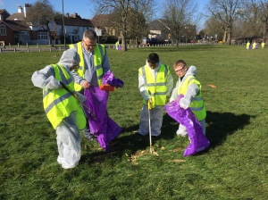 Cranmer School pupils joining in last year's tidy up