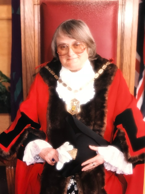 Sheila Knight when she was Mayor of Merton 1997-98