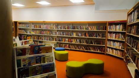 The bright and spacious children's area