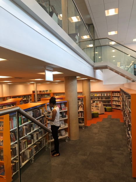 The lower ground floor of the Library