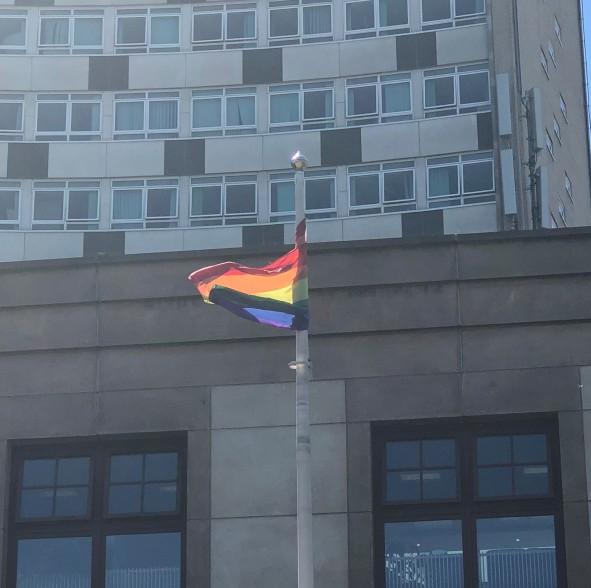 rainbow flag at civic centre .jpg