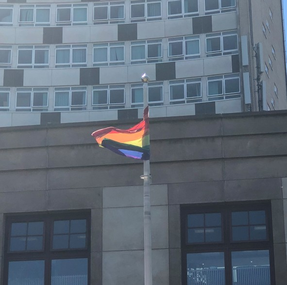 rainbow flag at civic centre .jpg