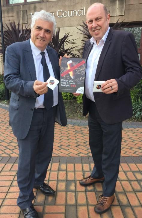 Leader of Merton Council, Councillor Stephen Alambritis with Councillor Mike Brunt